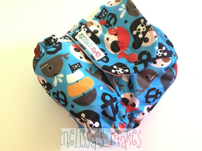 Item: handmade all-in-one diaper