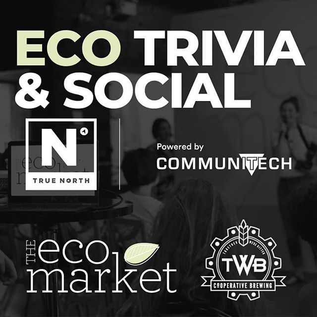 THIS THURSDAY! • • Trivia & Social @ True North! 🇨🇦 🌱🌱🌱 We've got beer, we've got plant-based food vendors, we've got a full on super challenging trivia line up with amazing prizes 🤠 . . Friendly faces, lively competition, great food, and fantastic prizes are in store for you!  This night will be one to remember. • • $10 advanced, $12 at door. Socials at 6PM Trivia at 7PM Trivia at 7PM June 20th in Communitech - 2nd floor Cafeteria 😁 follow our signs! • Eco Trivia & Social at True North, June 20th 6-9pm • • PS we'll be making a big announcement about the future of our organizaton 😀💚🍃. Hope to see you there! . . BYOC (bring your own containers) try if you can! You got this. 💪we got this. . . Will you be joining us? Tag your friends to let them know about our Trivia & Social this Thursday 🌱✨. Link in bio to register!