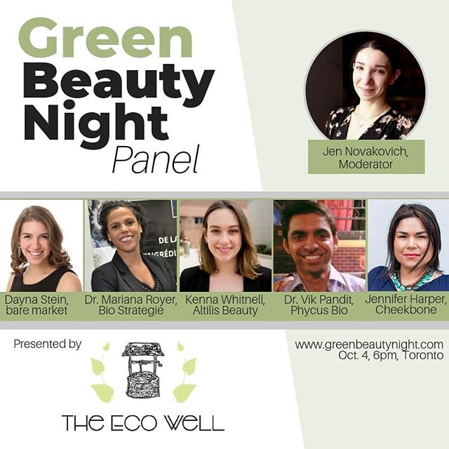 This Friday in Toronto. Featuring a panel discussion from Canadian Scientists and industry leaders on what 'Green Beauty' really means + a marketplace of some absolutely incredibly #greenbeauty brands. If you're in Toronto this week, you won't want to miss this event. PS, they're now 85% sold out! Details through the link in @greenbeautynight bio!