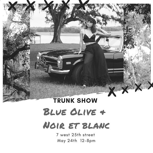 We will be debuting our newest collection this Thursday @noiretblancnyc! We'll be there from 12-8 w/ a special presentation from 6-8.  Drop by if you're in the area!  Come hang and enjoy individual styling and refreshments🥂
