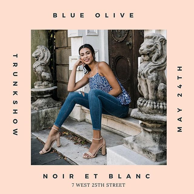 Ladies! We are going to presenting our brand new collection TODAY! Come by and check it out 12-8pm @noiretblancnyc 7 W 25th street. 💙💙💙
