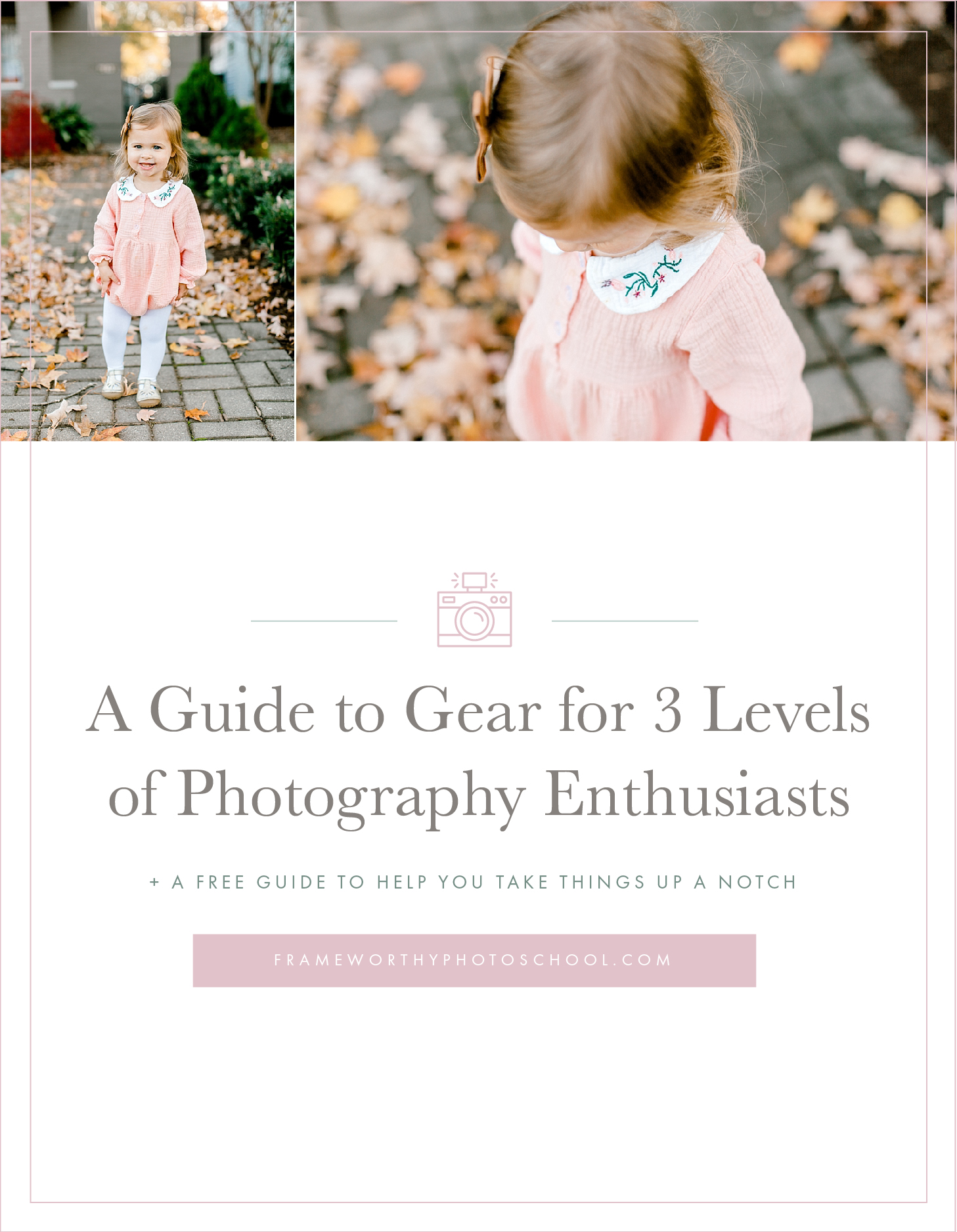 Level Up Your Photography Game - A Guide to Gear for 3 Levels of Photographers + A FREE Guide on What To Do NEXT!