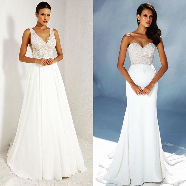 We can't decide...and as a vote here at the shoppe it's 50/50... now it's up to you!!! We want one of these gowns here at the shoppe to join the rest of our gorgeous girls! Comment 1 for the gown on the left and 2 for gown on the right!!! #avalaurenne #virginiabride #dcbride #richmondbride