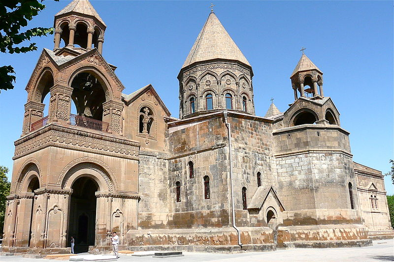 Etchmiadzin Cathedral: the mother church of the Armenian Apostolic Church, located in Etchmiadzin, Armenia, founded in AD 301.