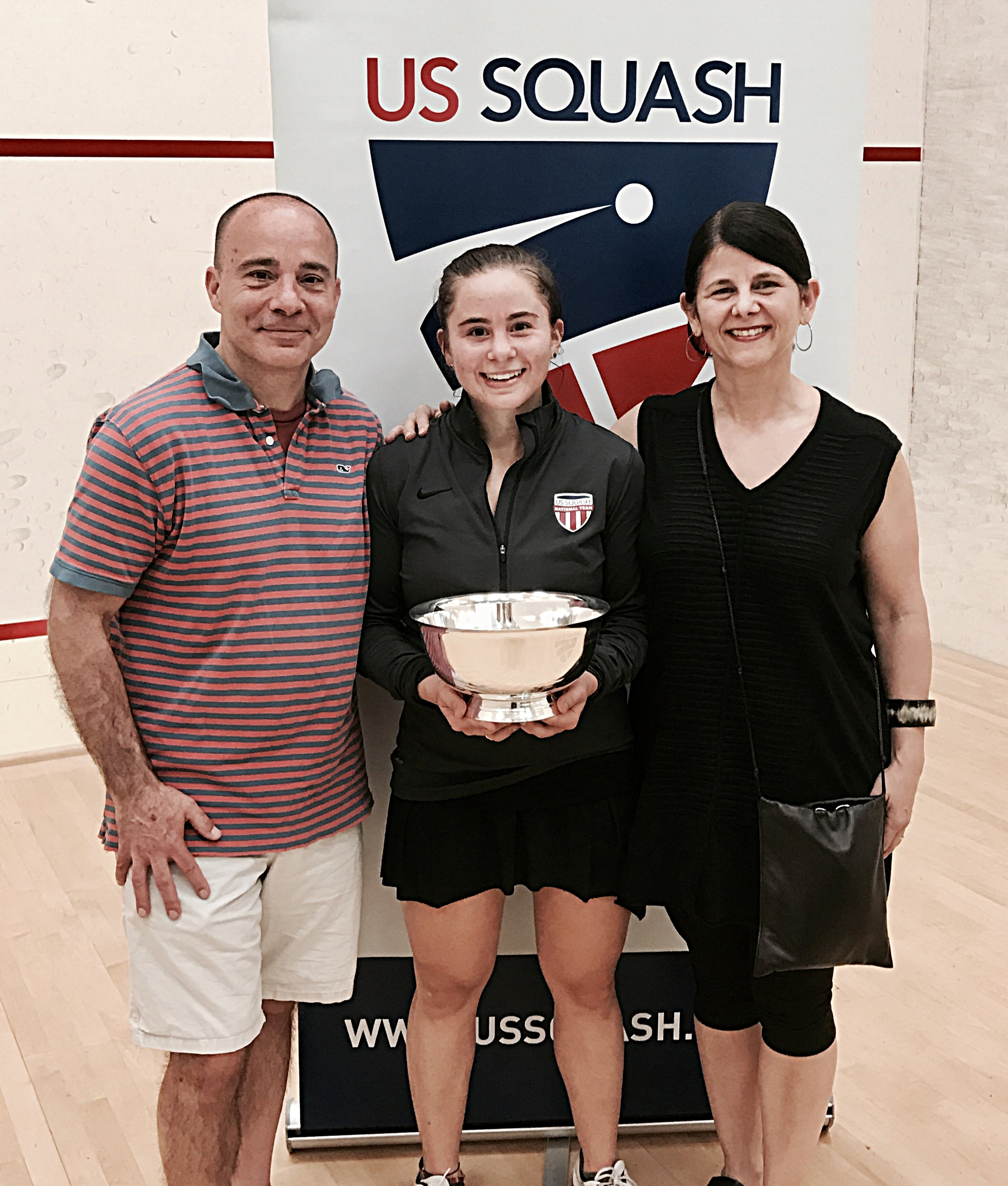 2017 US National Champion with Mom and Dad
