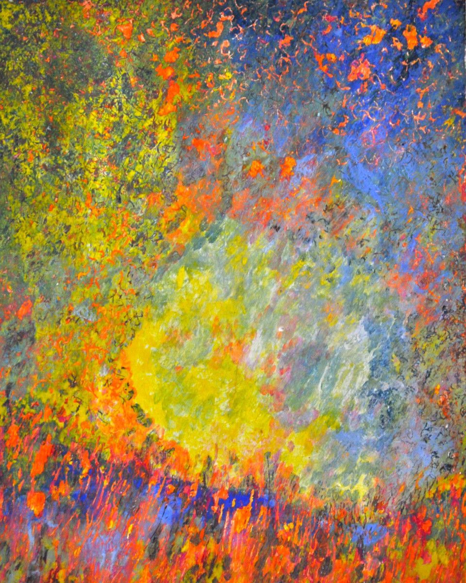 Maria Hughes. Circle of Love, Monotype, 20 x 16 in.