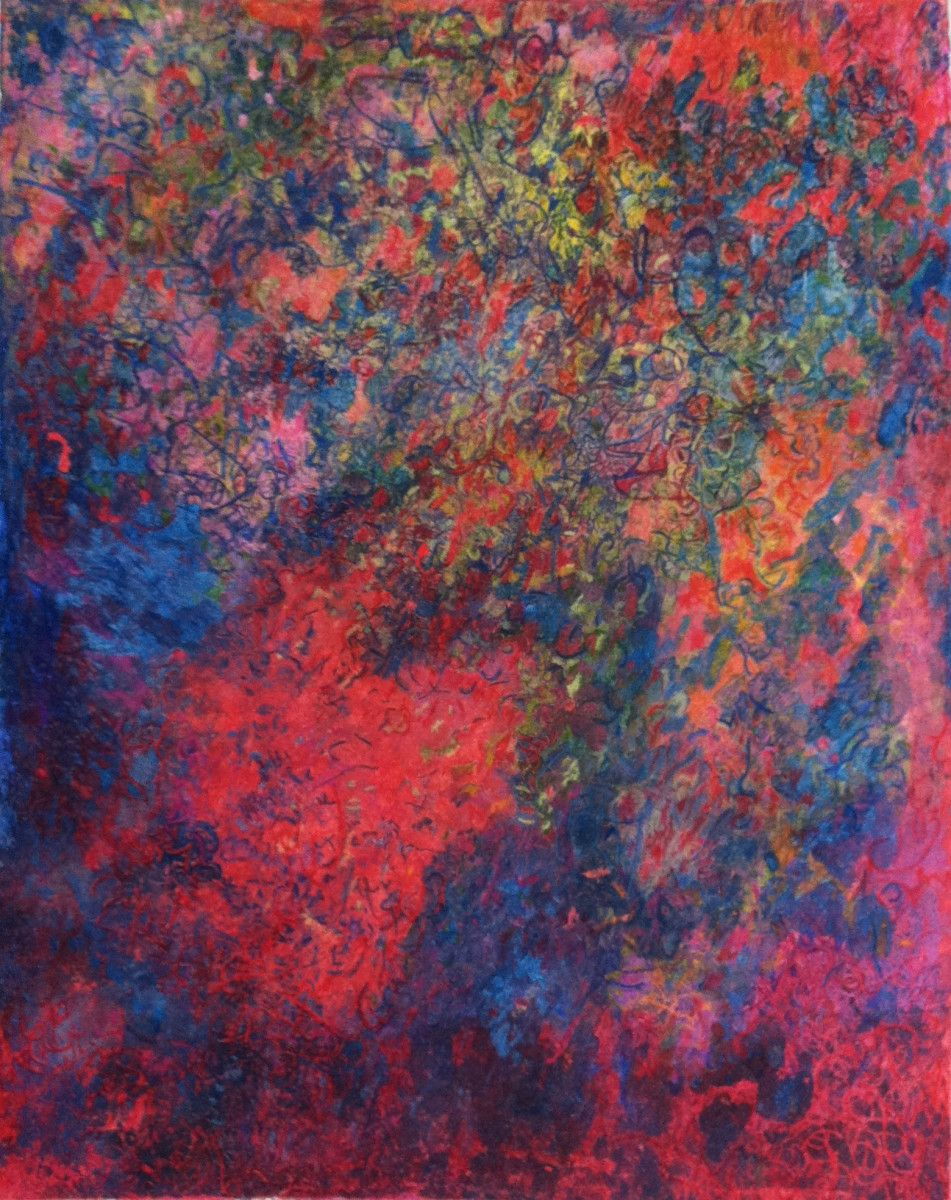 Maria Hughes,  The Music of Color , Monotype. SOLD.