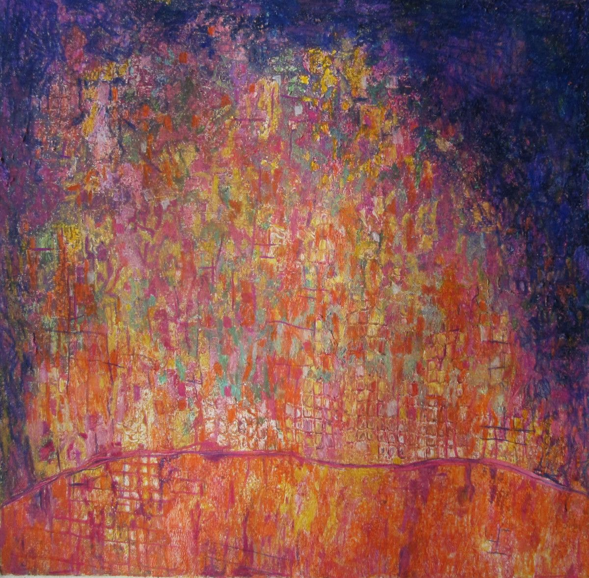 Maria Hughes.  Cuadritos , Monotype, 15 x 15 in. SOLD