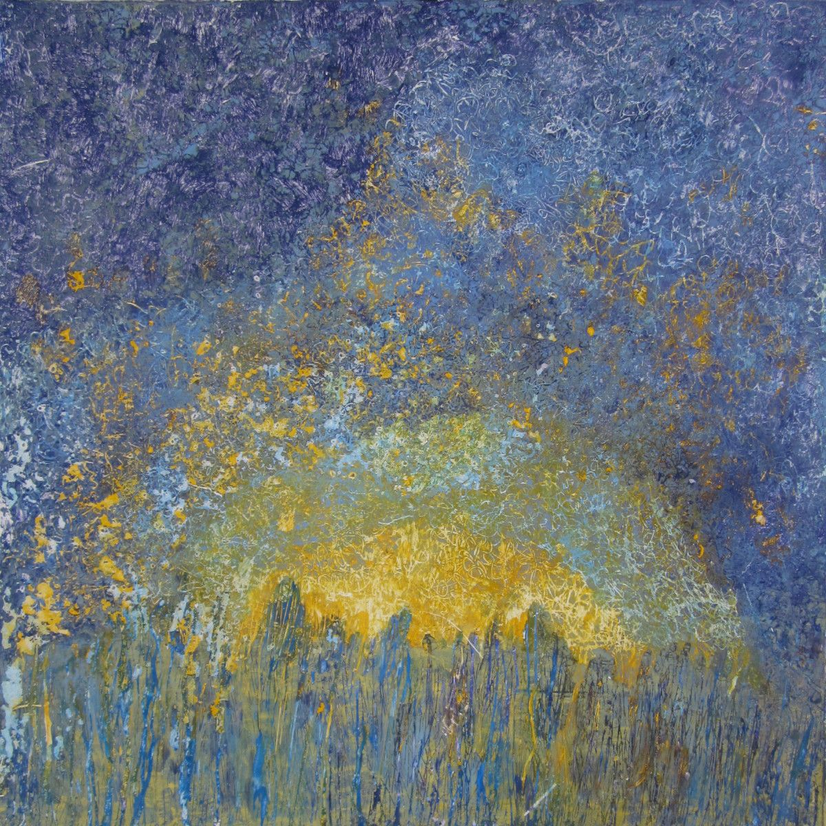 Maria Hughes.  Landscape V , Monotype. 15 x 15 in. SOLD.