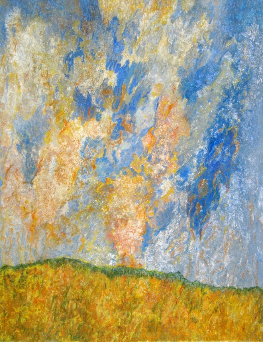 Maria Hughes.  Paisaje IV , Monotype, 20 x 26 in.