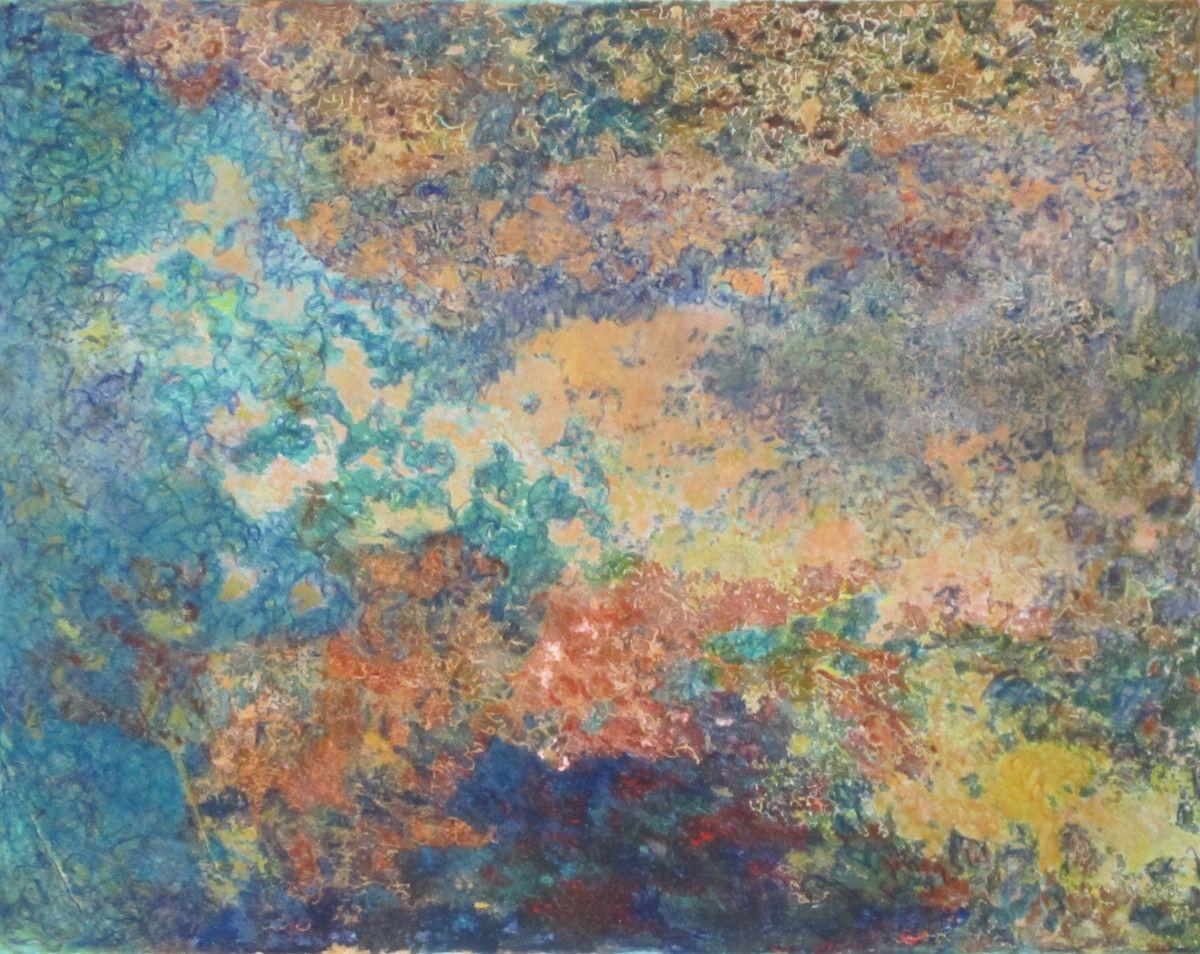 Maria Hughes. Landscape VIII, Monotype.16 x 20 in.  SOLD.
