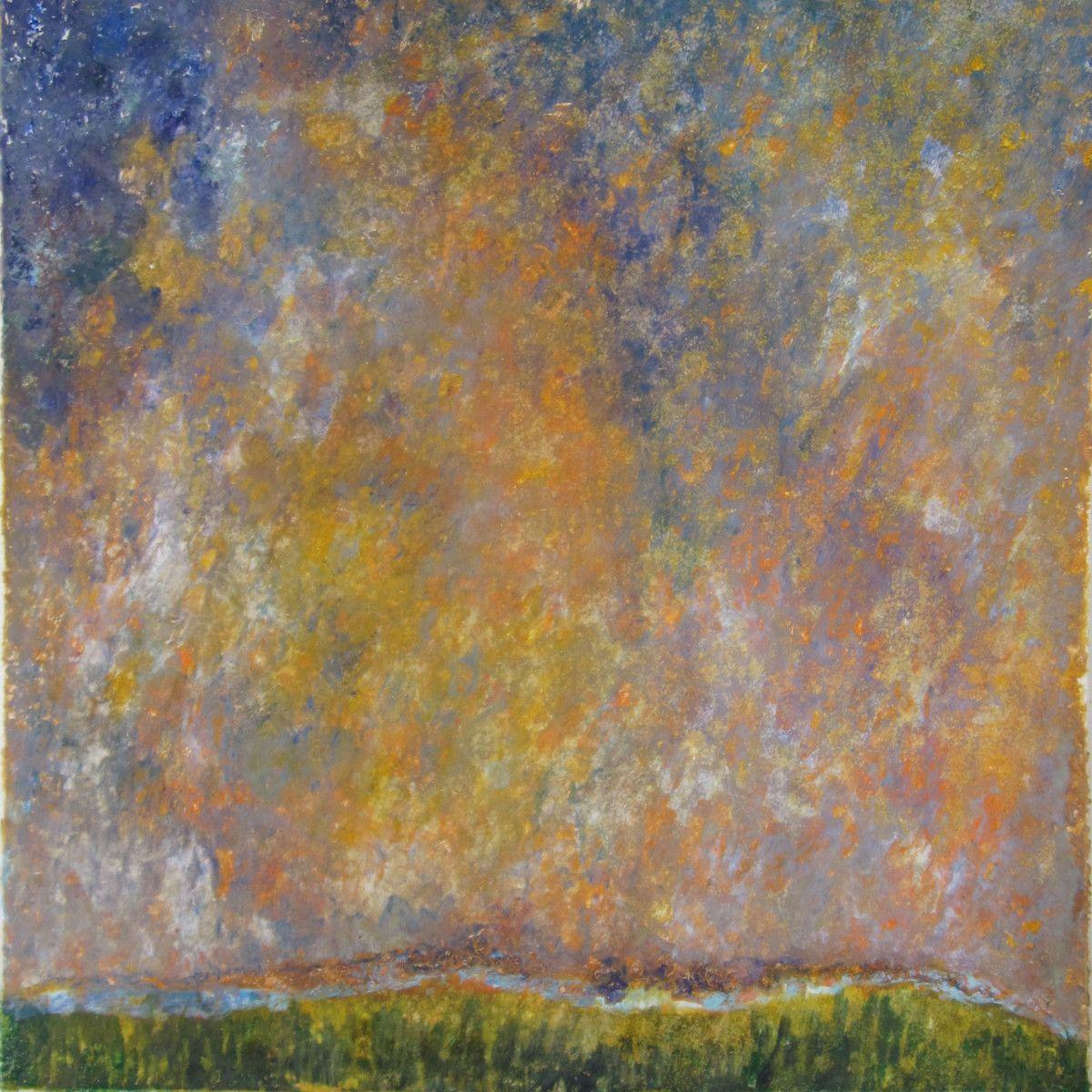 Maria Hughes. Landscape VII, Monotype, 20 x 20 in. .