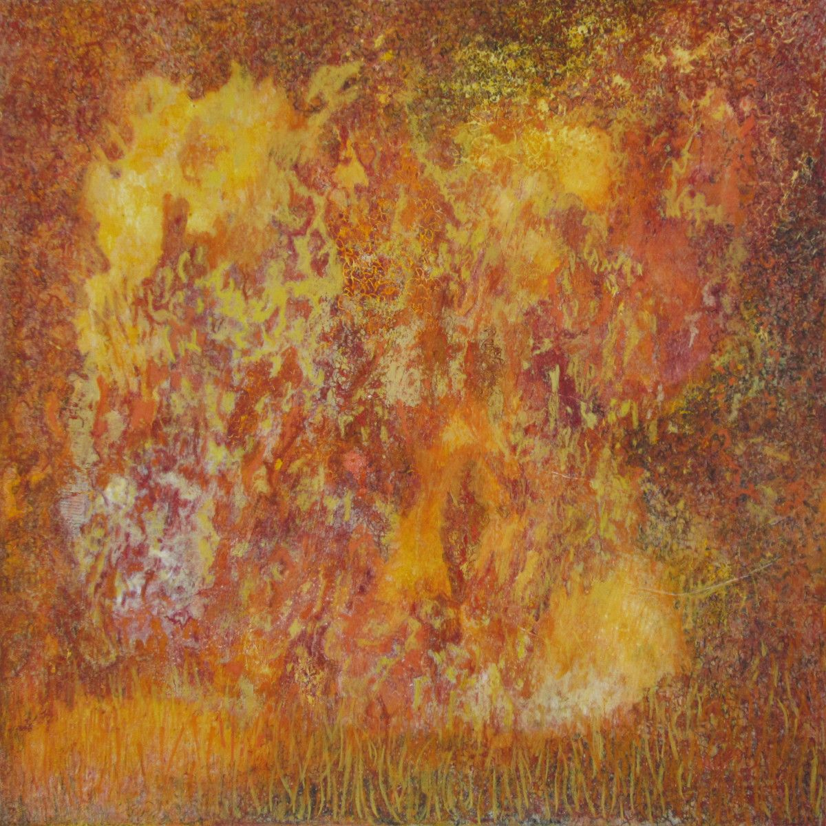 Maria Hughes. Golden Dream, Monotype, 20 x 20 in. SOLD.