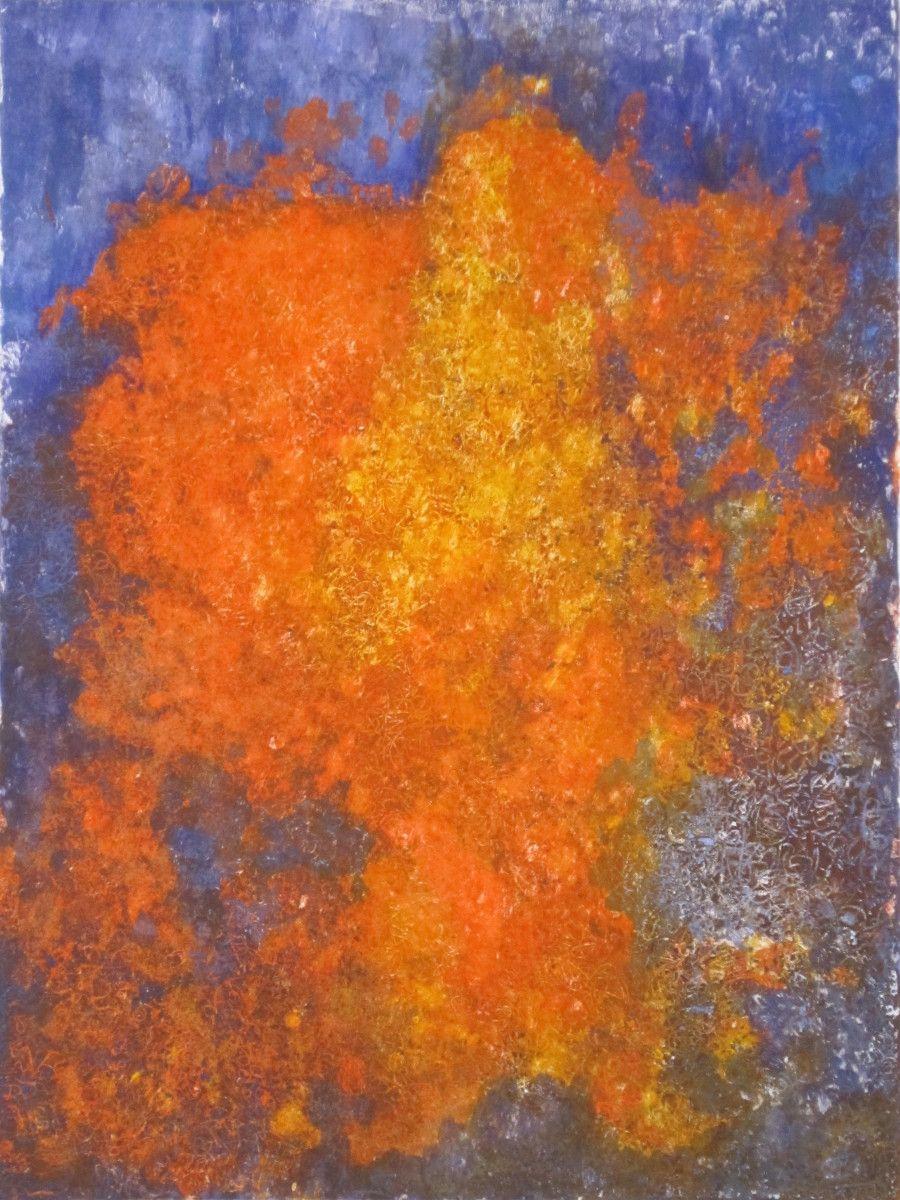 Maria Hughes. Forever Orange, Monotype, 24 x 18 in. SOLD.