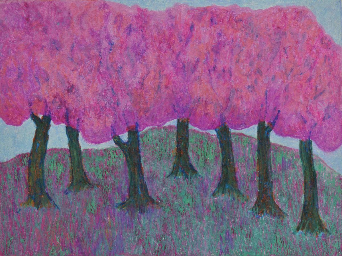 Maria Hughes.  Pink Dreams , Monotype, 9 x 12 in.
