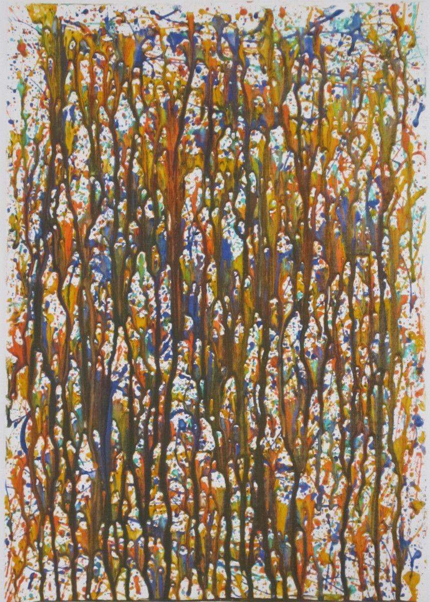 Maria Hughes.  Colorful Circles , Acrylic, 24 x 18 in.