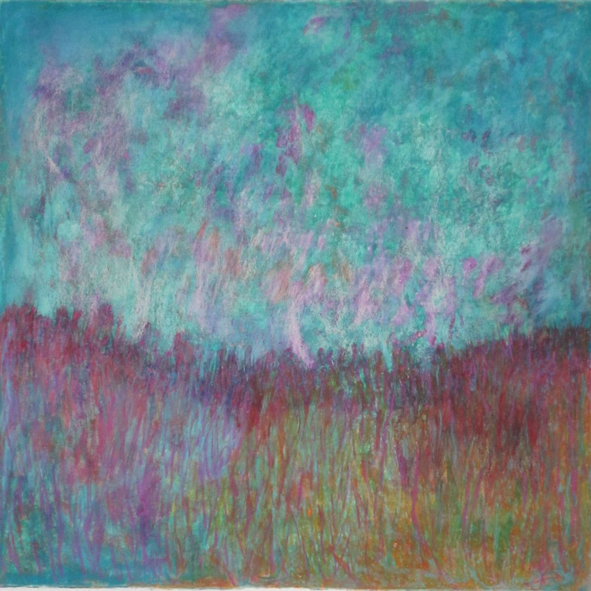 Maria Hughes.  Dreamland,  Monotype, 20 x 19 in.