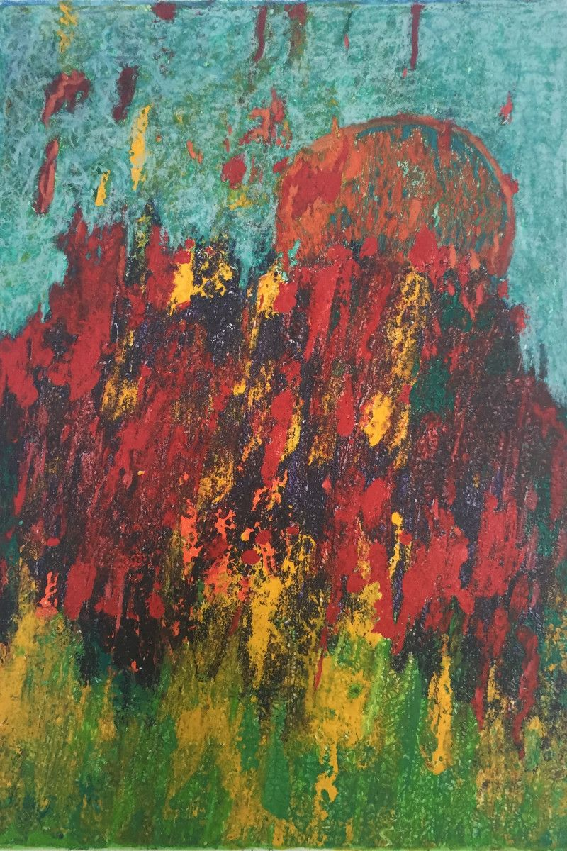 Maria Hughes. Bright Landscape, Monotype, 12 x 9 in.
