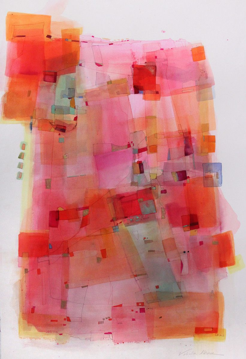 Valentina Atkinson.  Chromatica,  Watercolor and Ink. 40 x 30 in.