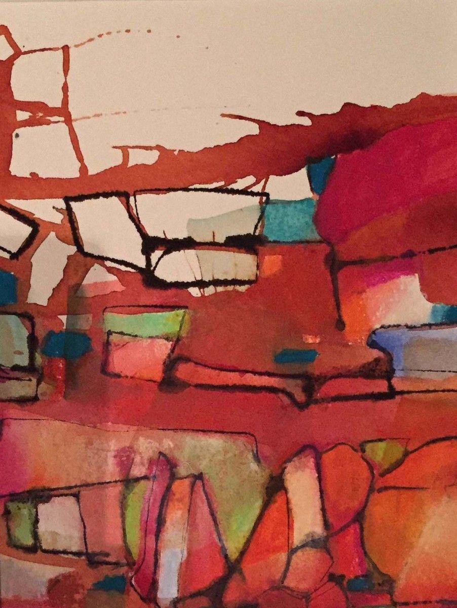 Valentina Atkinson.  Donatello 36,  Watercolor and Pastel. 16 x 12 in.