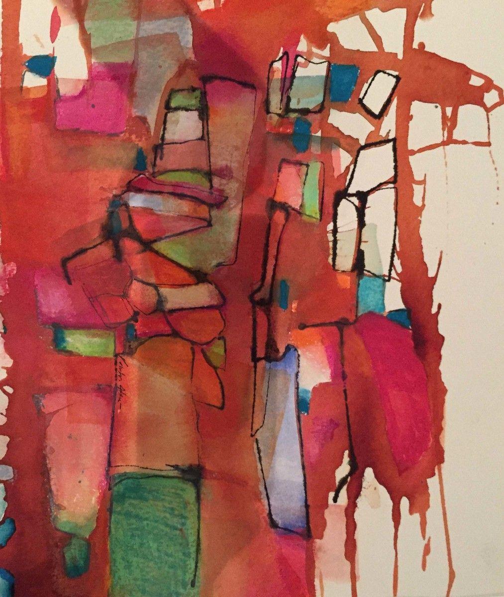 By Valentina Atkinson.  Loma Bonita , Watercolor and Pastel. 16 x 12 in.