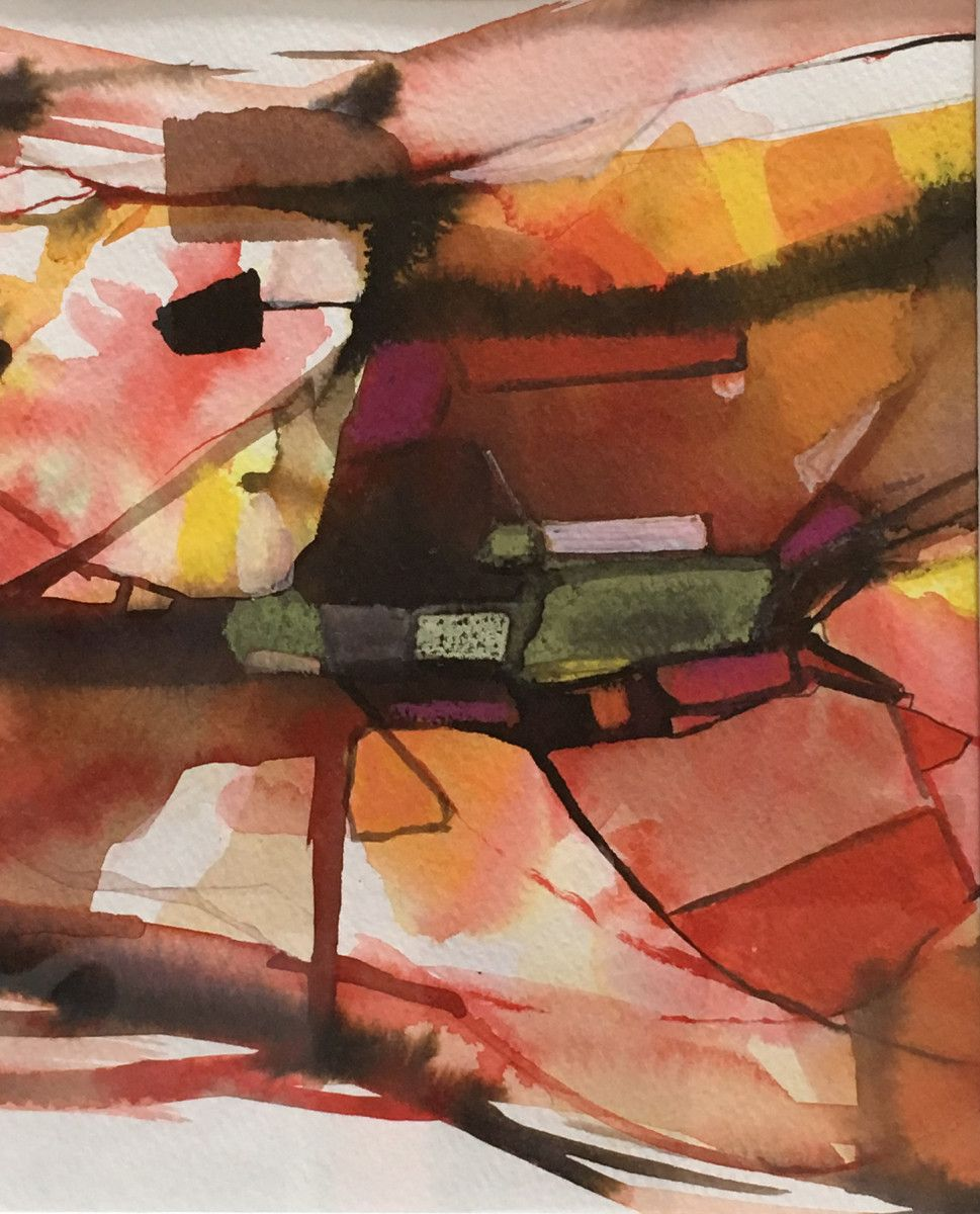 Valentina Atkinson.  Retorno 204 , Watercolor and Ink Painting., 9 x 7.5 in.  SOLD.