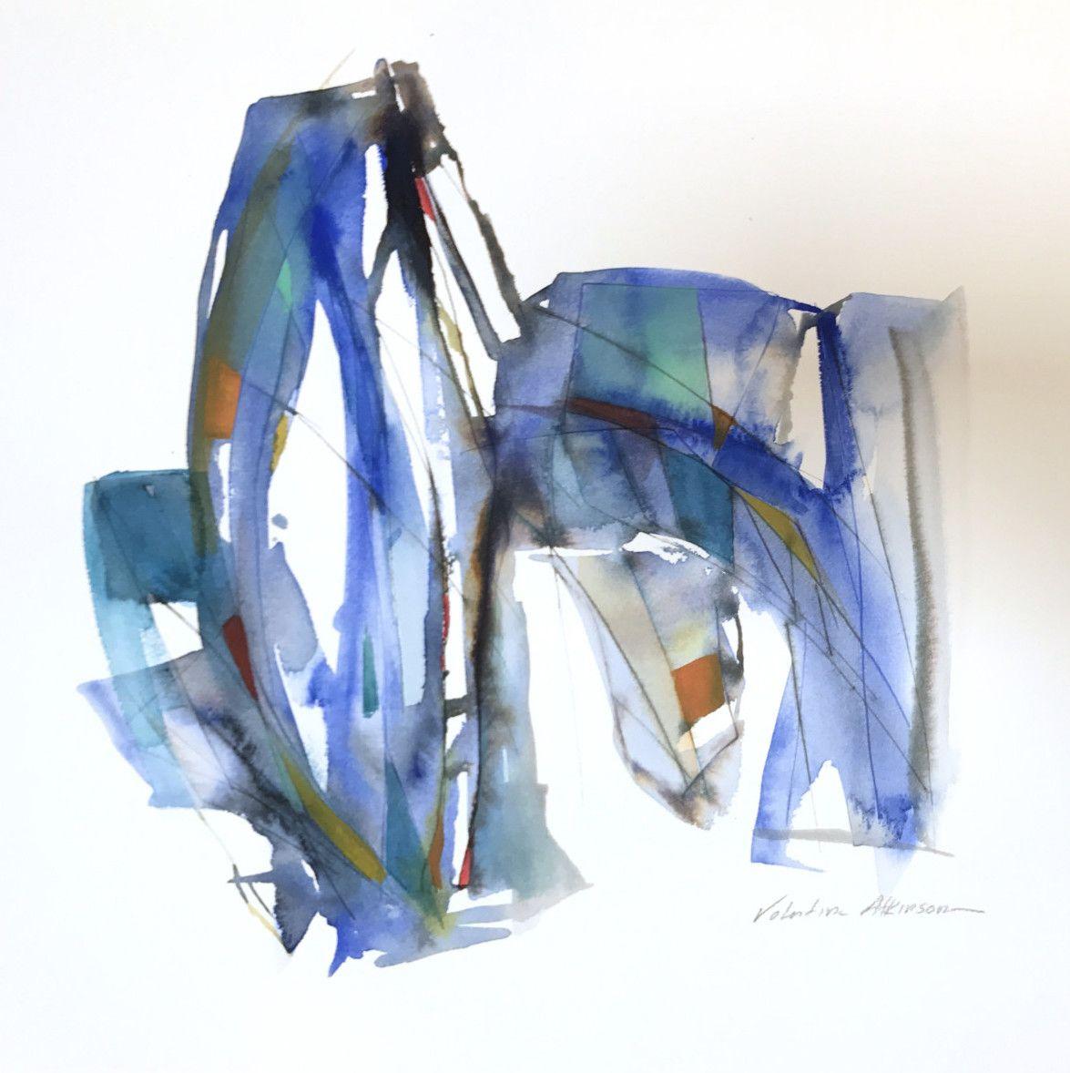 Valentina Atkinson. Tiempo de Dos, Watercolor and Ink. 14 x 14 in. SOLD