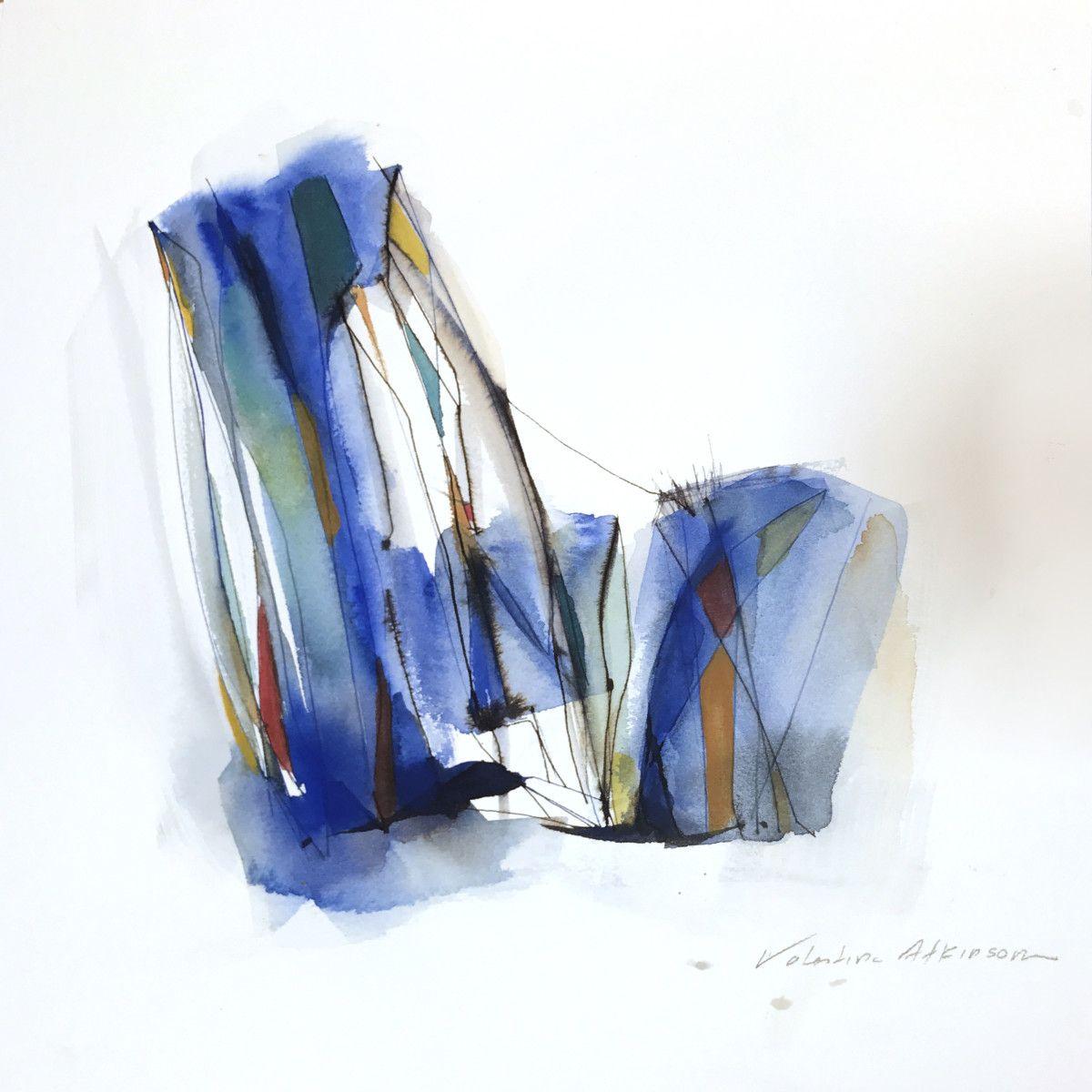 By Valentina Atkinson. Tiempo de Mediodía, Watercolor and Ink. 14 x 14 in. SOLD
