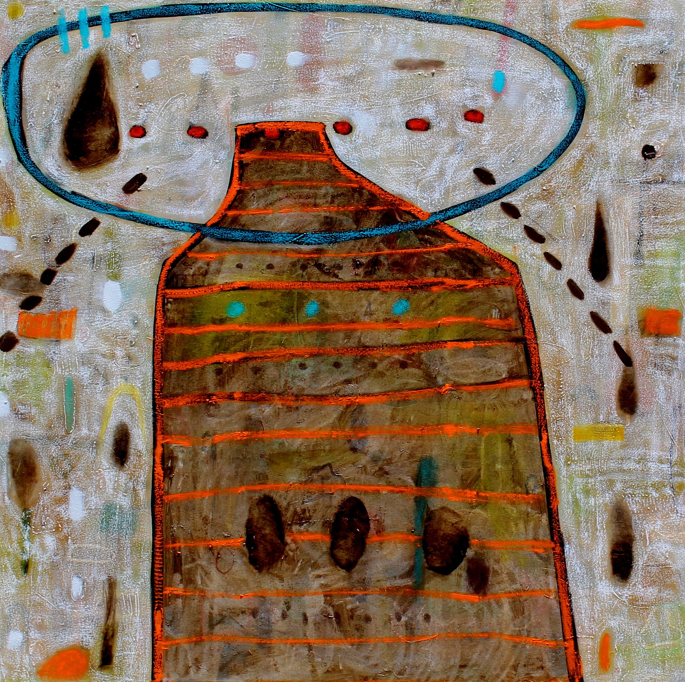 Didier Mayés,  Los Arbustos , Oil on canvas, 140 cm x 140 cm