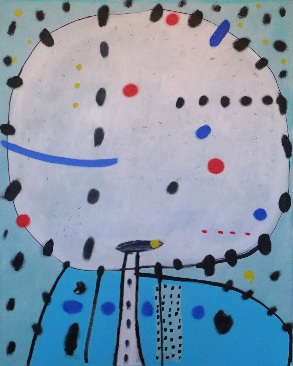 Didier Mayés,  El cabezón , 2018, Oil on canvas, 39.5 x 31.5 in