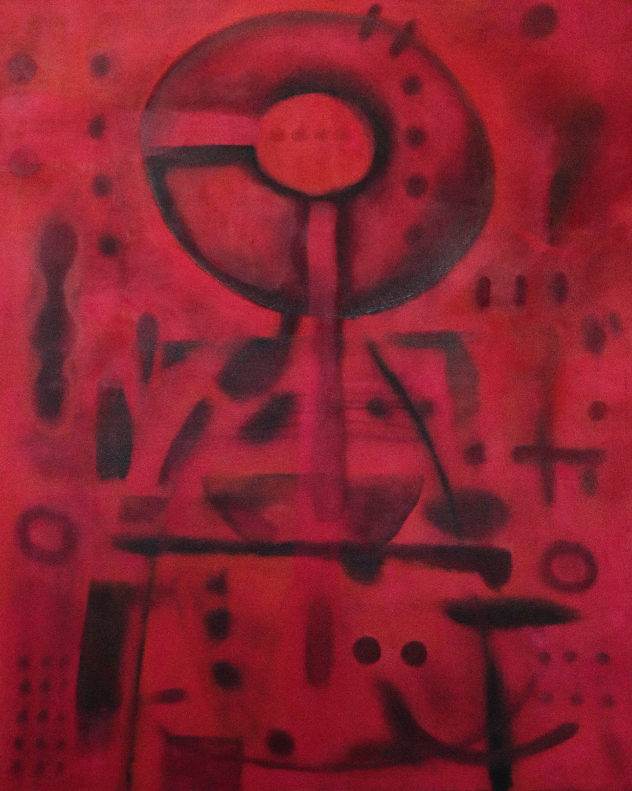 Didier Mayés,  Diablita , 2018, Oil on canvas, 39.5 x 31.5 IN
