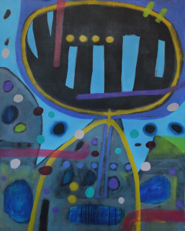 Didier Mayés,  En el monte , 2018, Oil on canvas, 39.5 x 31.5 IN