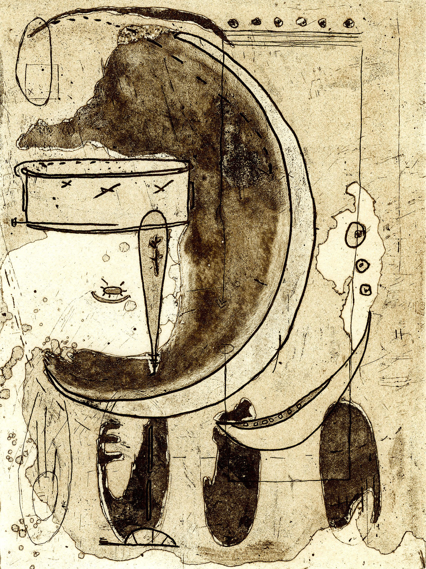 Shanti Conlan, Crescent, Etching and Aquatint, 8 x 6 in.