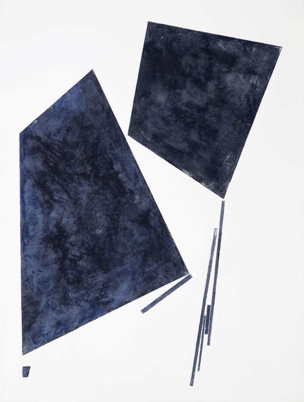 Luisa Duarte, Conversation 1, 2014. Monotype on Paper, 30 x 22 x 0 in.