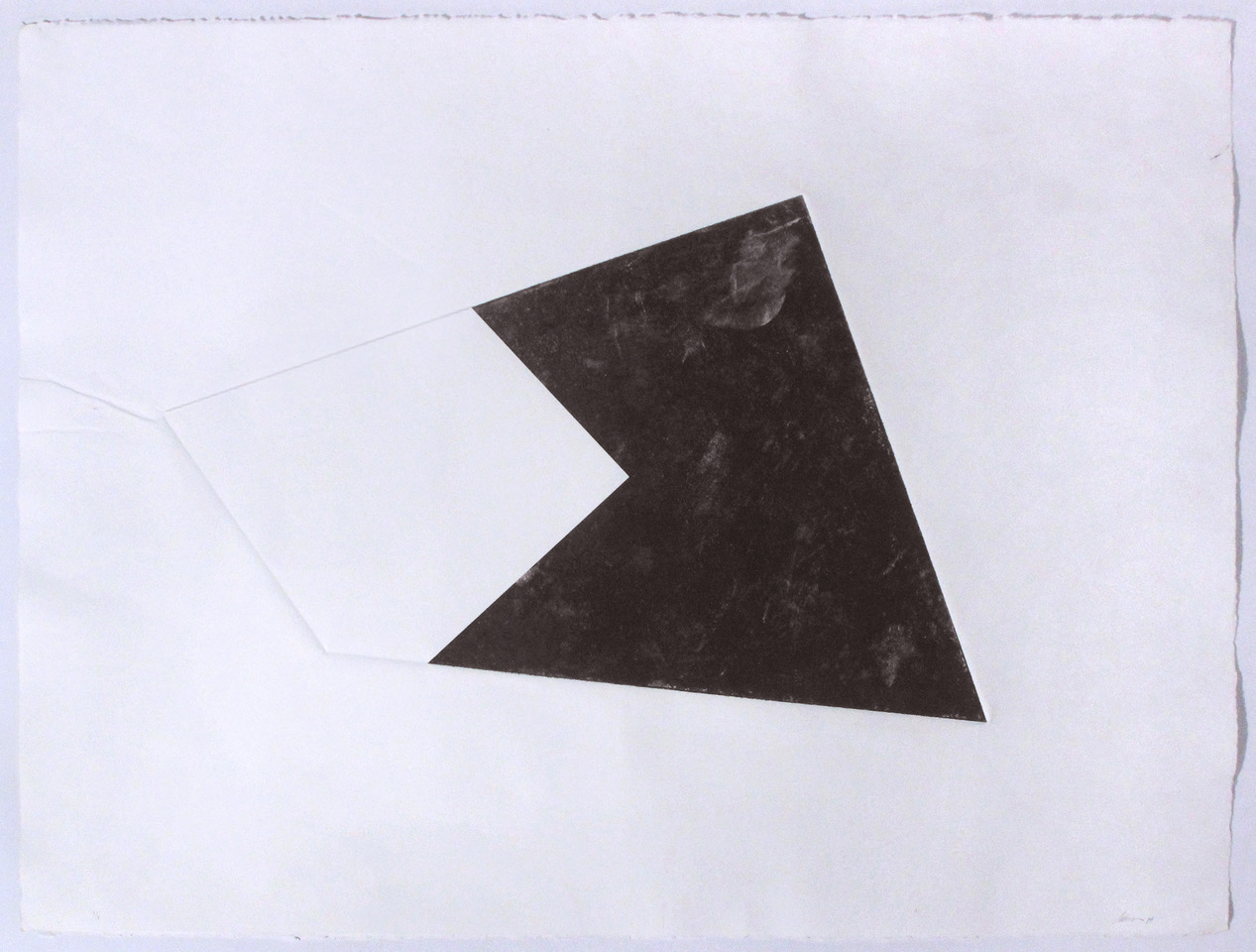 Luisa Duarte, Empty Site, 2014. Monotype on Paper, 30 x 22 x 0 in. Framed: 26.5 x 34 x 1.5 in.