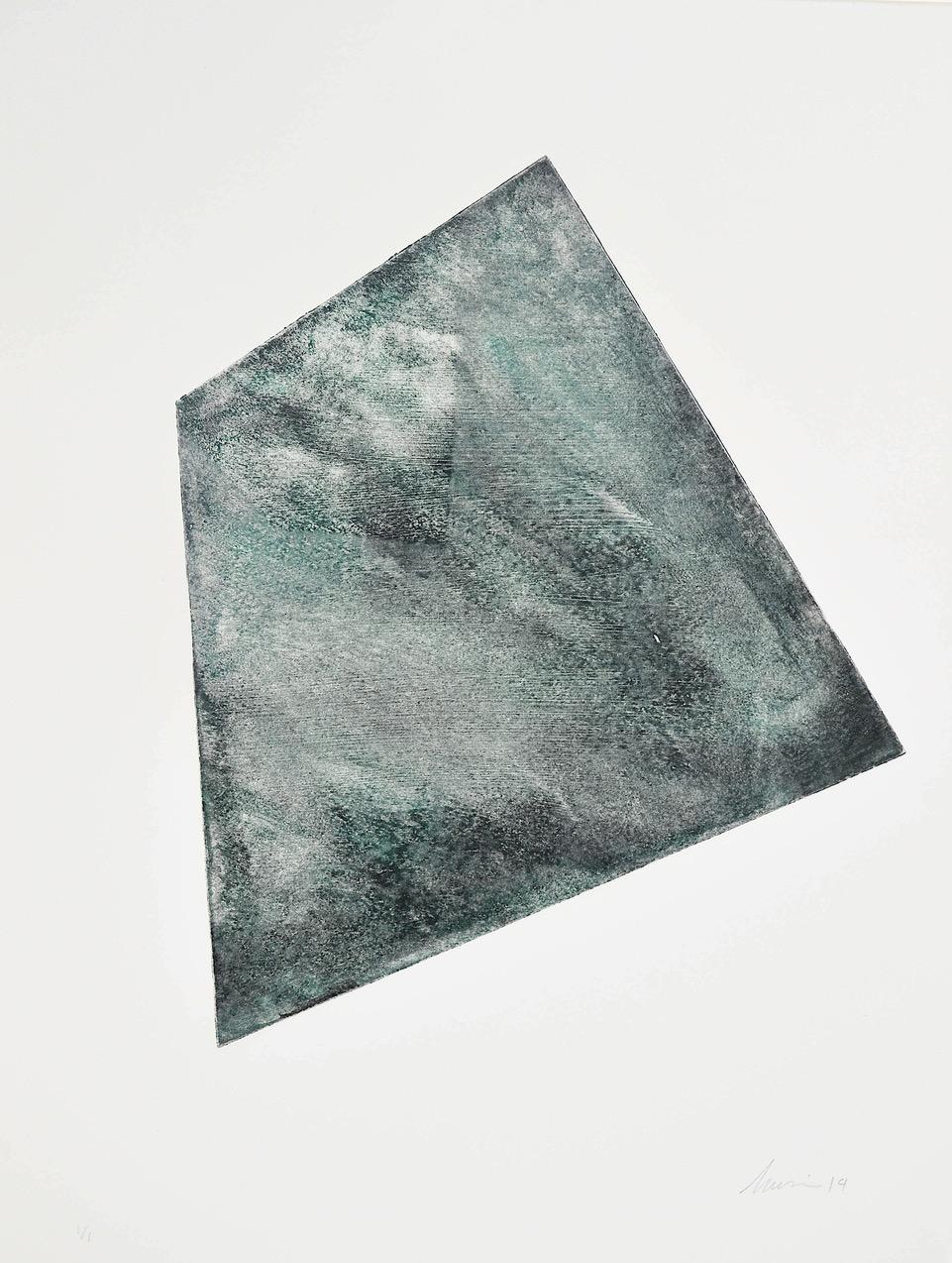 Luisa Duarte, Hidden note, 2015. Monotype. 15 x 11 x 0 in.  Framed: 19 x 15.25 x 1 in