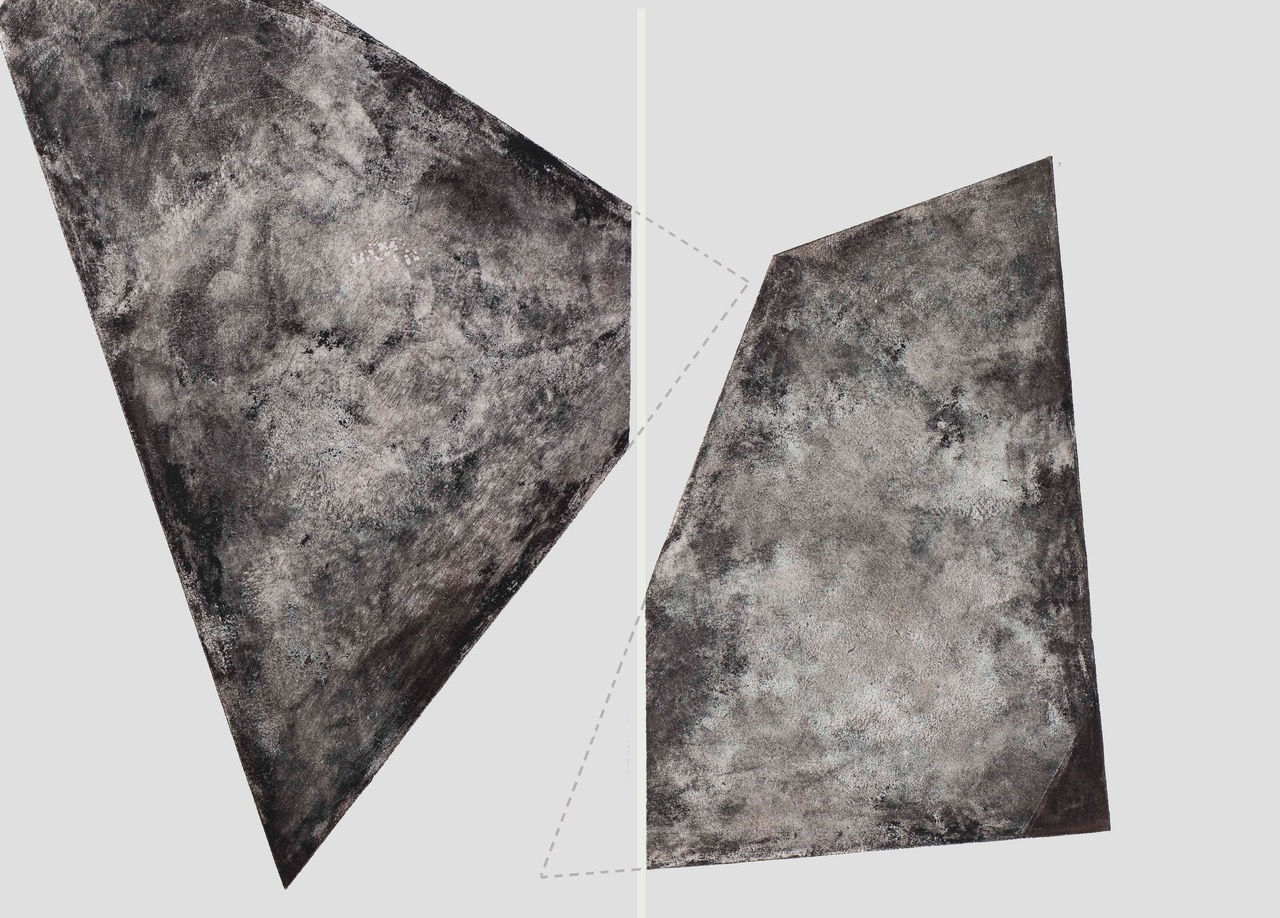 Luisa Duarte, Missing Pieces, 2014. Monotype, 22 x 30 x 0 in. Framed: 26.5 x 34.5 x 1.5 in.