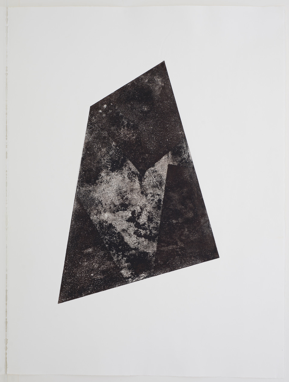 Luisa Duarte, Stone site, 2014. Monotype on paper, 30 x 22 x 0 in. Framed: 34 x 26 x 1.5 in