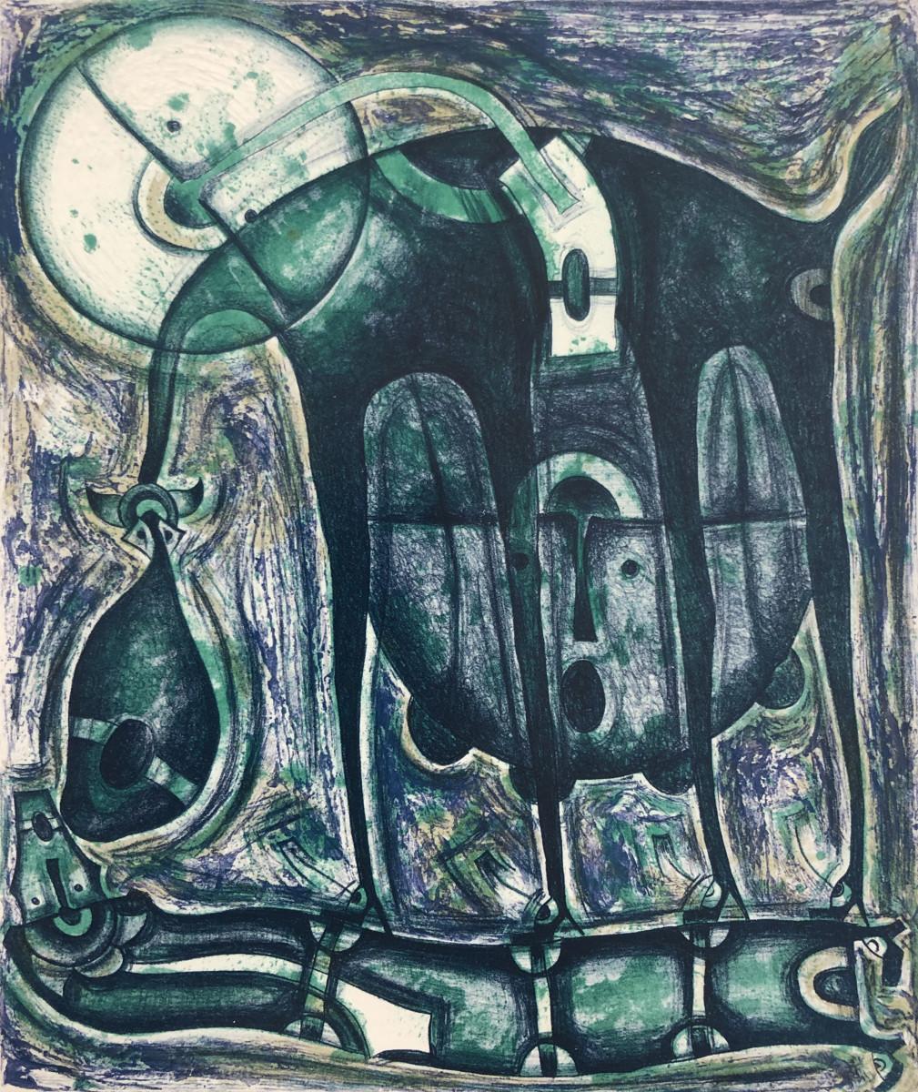 Rolando Rojas, El Beso de la Animala, 22 x 18.5 in.