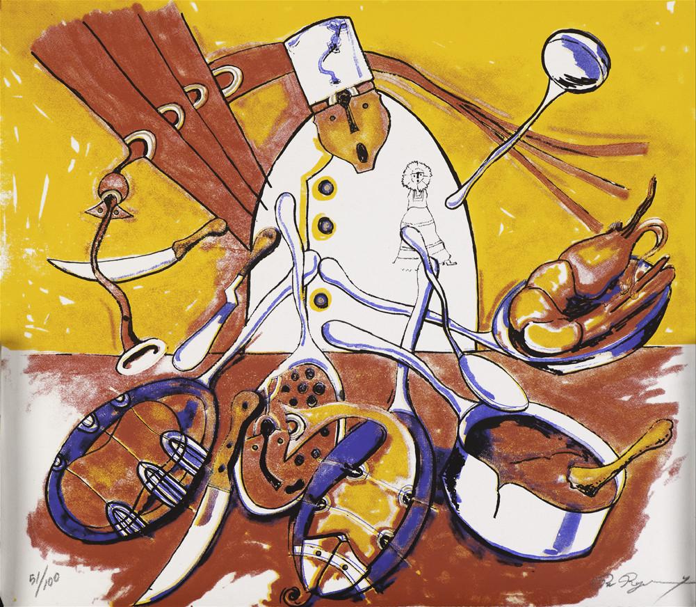 Rolando Rojas, El Chef, Silkscreen, (Ed. 64/100), 15.7 x 17.35 in.