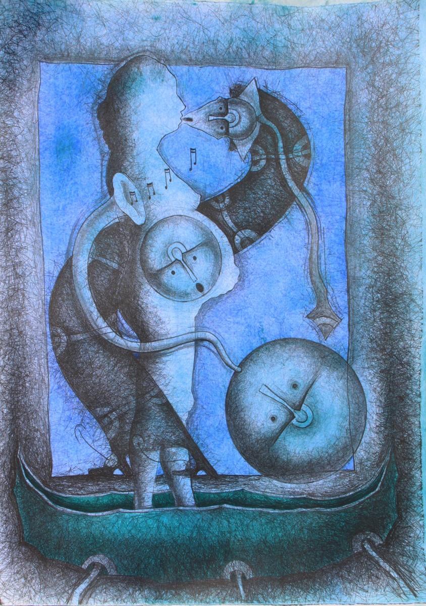 Rolando Rojas, El Viaje de Didi, Lithograph (Ed. 40/50), 31.5 x 23.5 in.