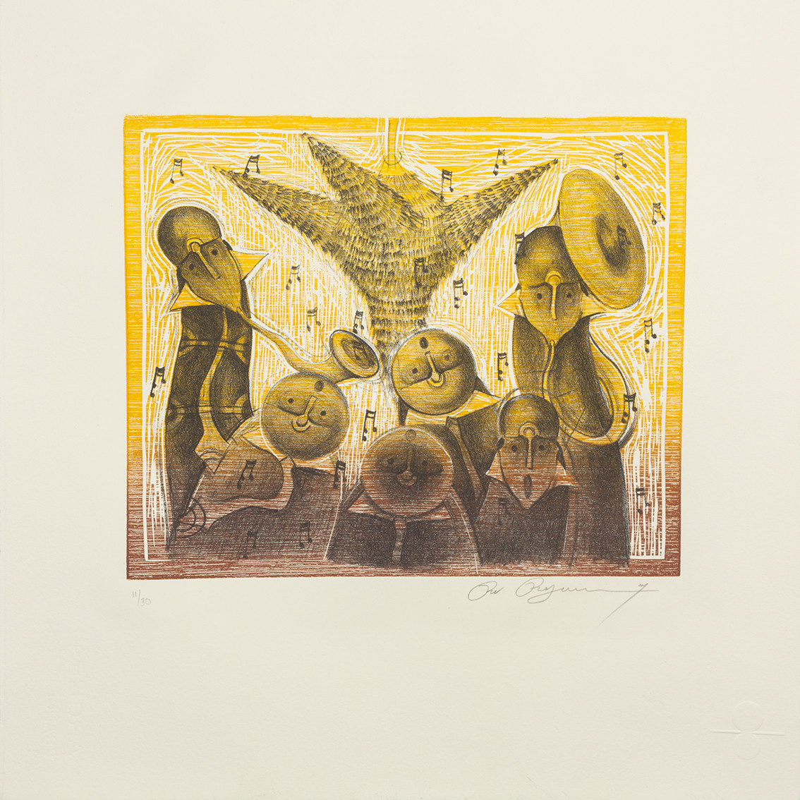 Rolando Rojas, Posaderos, Lithograph (ed. 11/30), 15.7 x 17.7 in.
