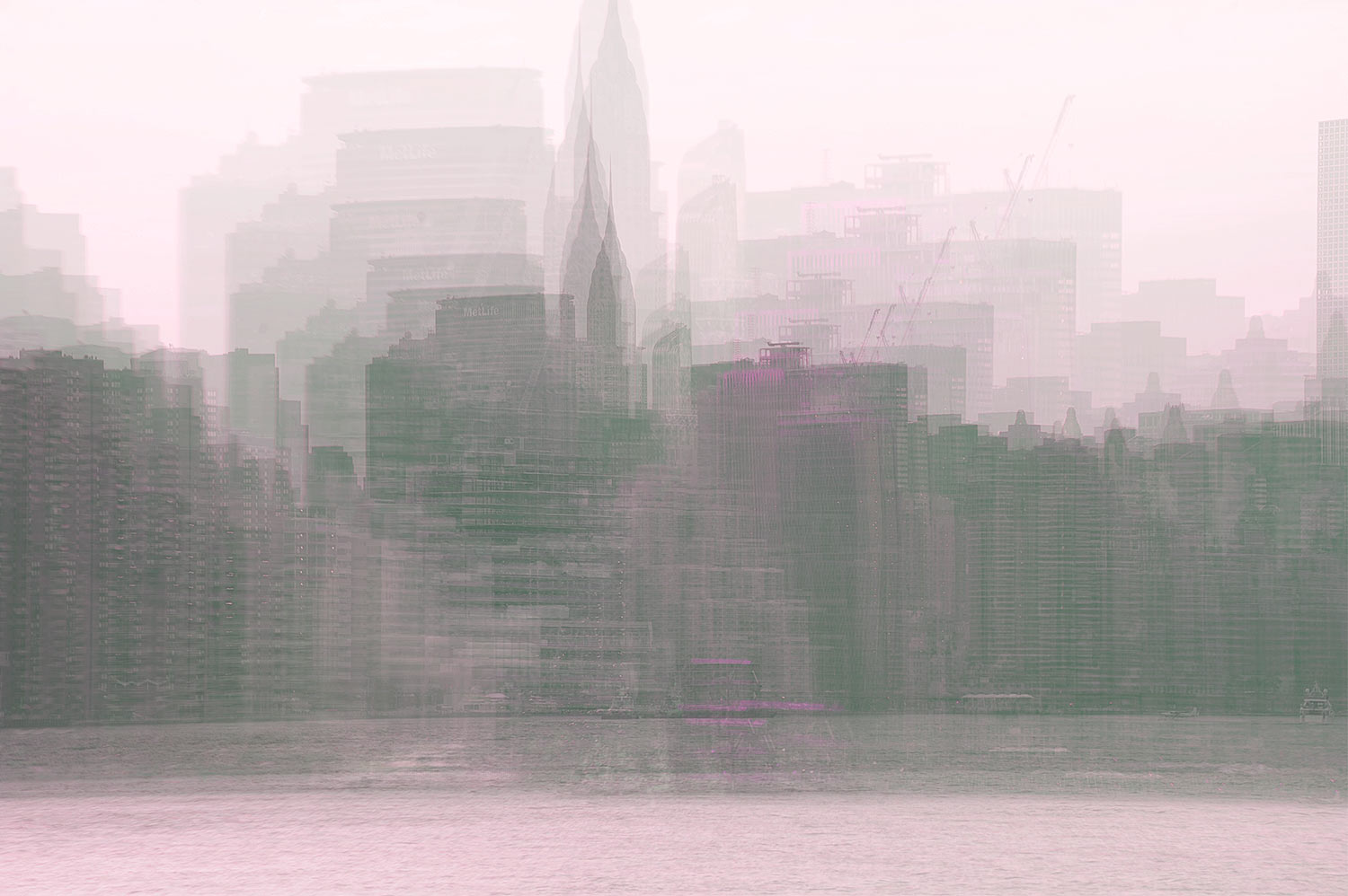 Alfonso Bonilla,  Lower Manhattan . Chromaluxe Photograph. 18 x 24 in.