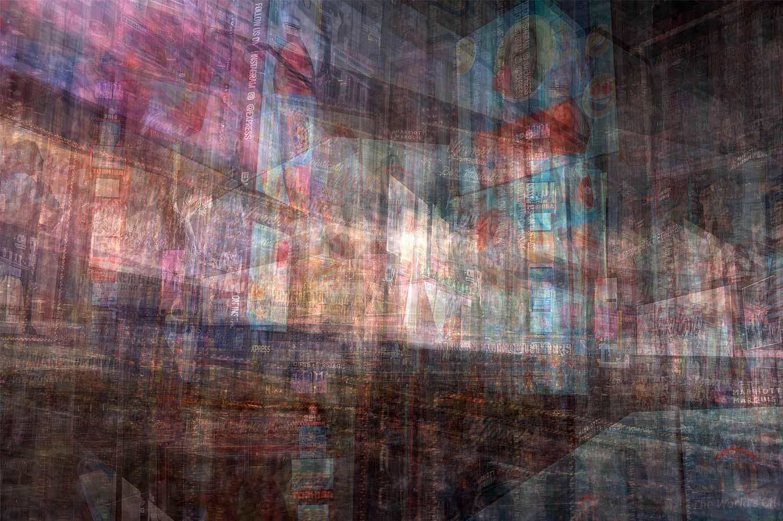 Alfonso Bonilla,  Time Square , Chromaluxe Photograph. 18 x 24 in.