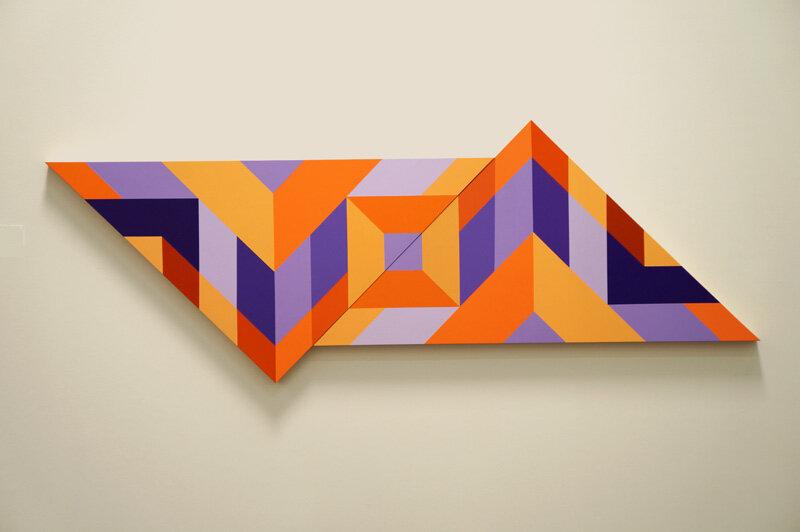 Fairba Abedin,  Color Field #172 , Acrylic on wood panels, 28 x 75, 2-2017.