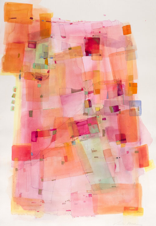 Valentina Atkinson,  Chromatica , Watercolor and Ink, 35 x 25 in.