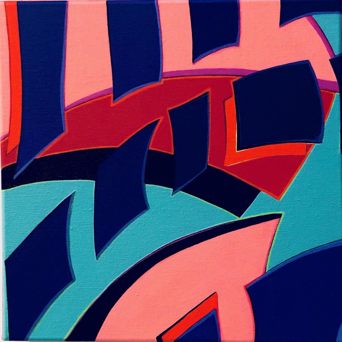 Kelyne Reis,  Fragmentation 5.5 , Acrylic on canvas. 12