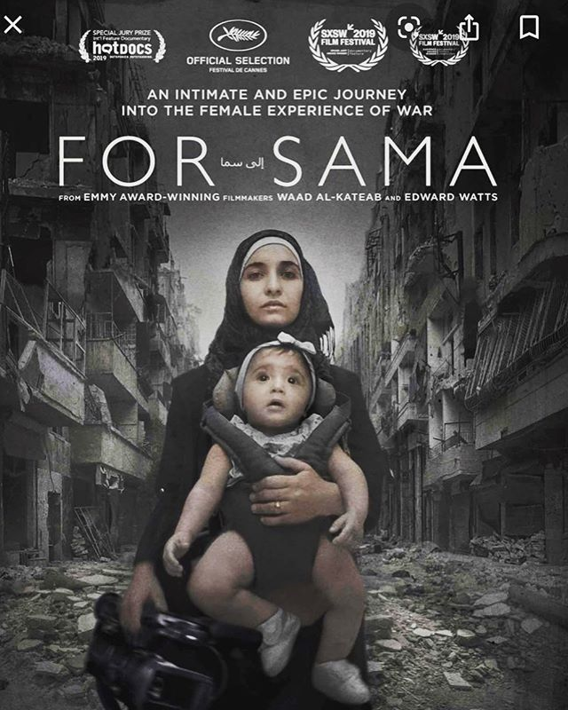 I've never seen a documentary quite like #ForSama. A harrowingly intimate account of the Syrian conflict and extraordinary testimony to the human capacity for selflessness and hope in the most devastating circumstances. Heartbreaking and life affirming in equal measure. Absolutely essential viewing.  Bravo @waadalkateab 🌟🌟🌟🌟🌟