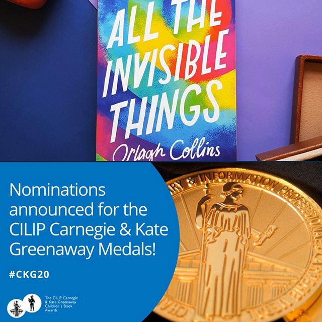 Wow, WOW! All The Invisible Things has been nominated for the Carnegie Medal. I'm overjoyed! (& somewhat surprised, I won't lie) Huge thanks to the fantastic librarians who voted and to @bloomsburypublishing. Huge congratulations to all the authors on this AWESOME list. 🚀 #CKG2020 #CILIP #Librarians