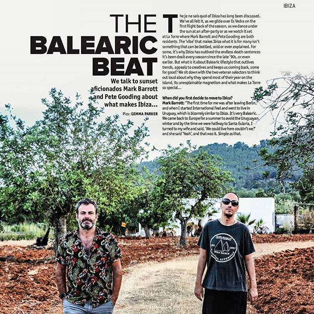 @djmagofficial Ibiza sat down with Balearic aficianados @petegooding and @internationalfeelibiza who compiled the brilliant III Volume in the #HostalLaTorreRecordings Series.  We can't recommend it enough, you can buy your copy here: https://bit.ly/2zdUQIA  #djmag #ibiza #djmagibiza #petegooding #markbarrott #balearic #musicpress #compilation #deejay #dj